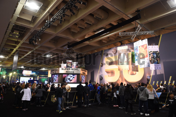 31 January 2016: A general view of fans enjoying the activities  during The NFL Experience for Super Bowl 50 at the Moscone Center in San Francisco, CA.