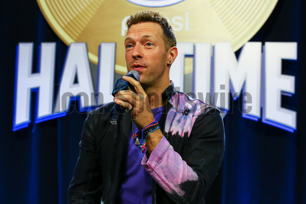 04 FEB 2016: ColdPlay's Chris Martin during the Super Bowl 50 Halftime Show press conference  at the Moscone Center in San Francisco California.  (Photo by Rich Graessle/Icon Sportswire)