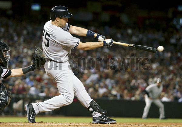 15 May 2016: New York Yankees First base Mark Teixeira (25) [2942] during a game between the New York Yankees and the Arizona Diamondbacks at Chase field. (Photo by Kevin French/Icon Sportswire)