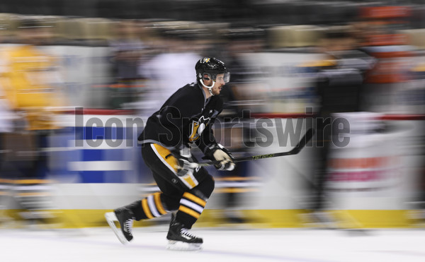PITTSBURGH, PA - MAY 28: Pittsburgh Penguins Center Sidney Crosby (87) skates during practice on the NHL Stanley Cup Final Media Day prior to the 2017 NHL Stanley Cup Final between the Nashville Predators and the Pittsburgh Penguins on May 28, 2017, at PPG Paints Arena in Pittsburgh, PA. (Photo by Jeanine Leech/Icon Sportswire)